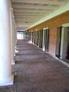 West Lawn dorms flanking Pavilion VII.